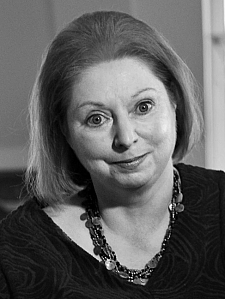 Author Hilary Mantel at her home in Surrey