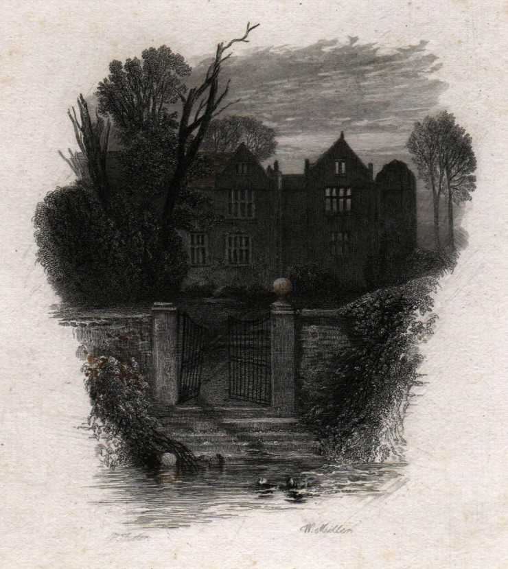 'An_old_deserted_mansion'_touched_proof_engraving_by_William_Miller_after_Birket_Foster