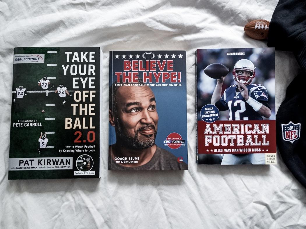Football-Bücher, Patrick Esume, Adrian Franke, Pat Kirwan, Believe the Hype, American Football, Take Your Eye off the Ball