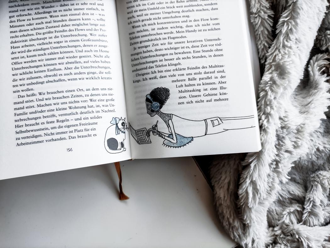 Melanie Raabe Kreativität illustriert von Ilka Hagen